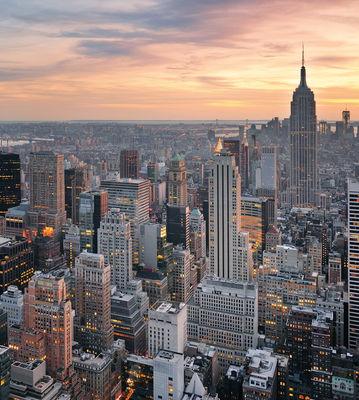 Фотообои Вечерний Нью-Йорк артикул 140105