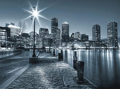 Фотообои Ночной город артикул 250145