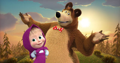 Фотообои Маша и медведь артикул 530574