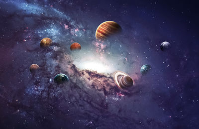 Фотообои Солнечная система артикул E230442