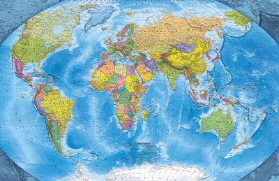 Фотообои Карта мира артикул E230446