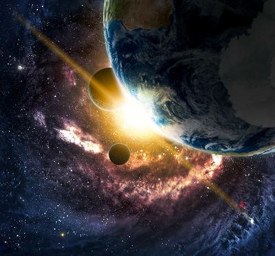 Фотообои Вид в космосе артикул E250464