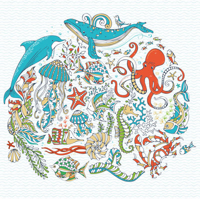 Фотообои Морской мир артикул LA200541