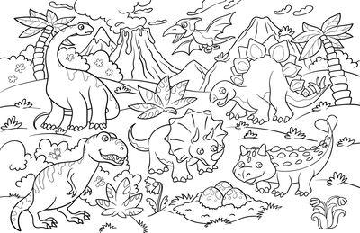 Фотообои Добрые динозавры артикул LA230533
