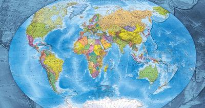 Фотообои Карта мира артикул YW230094