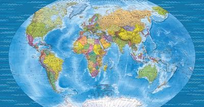 Фотообои Географическая карта мира артикул YW230606