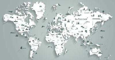 Фотообои Карта мира артикул YW230607