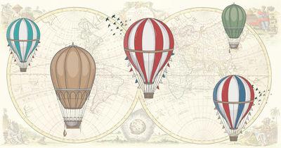 Фотообои Винтажный фон с воздушными шарами артикул YW230611