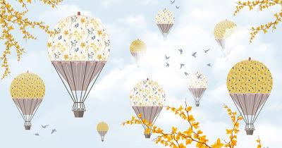 Фотообои Воздушные шары и деревья артикул YW230612