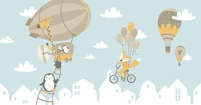 Фотообои К приключениям на воздушных шарах артикул YW230613